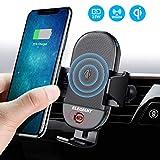 无线车载充电器,ELEGIANT 15W/10W/7.5W 充电器红外感应自动夹紧空气通气手机支架,兼容 iPhone XS/XS Max/XR/X/8/8 plus Galaxy S7/S8/S9 以及所有 Qi 功能设备