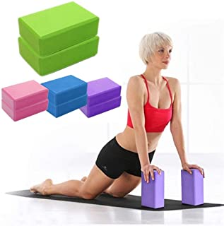 CWM 瑜伽砖 2 件装和高* EVA 泡沫瑜伽砖支撑和深化姿势