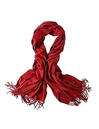 bellonesc 羊绒围巾包头披巾女式和男式