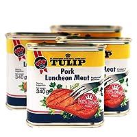 【4罐】丹麦Tulip郁金香/三花/午餐肉罐头340g*4涮火锅肉制品方便速食即食肉罐头