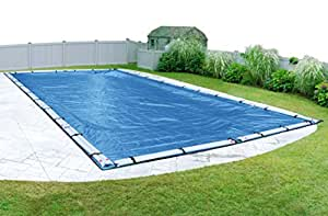 Pool Mate 541624R Econo-Mesh Winter Cover for In-Ground Swimming Pool Caribbean Blue 16 x 36-Foot Pool