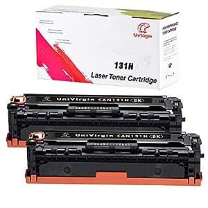 UniVirgin CRG-131 黑色墨粉替换件 适用于佳能 6272B001AA 131 黑色墨盒适用于佳能 ImageCLASS LBP-7100 MF8280、MF8230CN、MF8280CW LBP-7100CN、LBP-7110CW 打印机 - 2 x 黑色