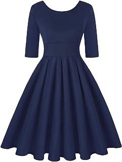 MINTLIMIT 女式 20 世纪 50 年代复古鸡尾酒会短袖摆裙