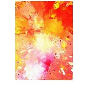 Kess InHouse CarolLynn Tice Splash Cutting Board, 11.5 by 8.25-Inch, Orange Yellow