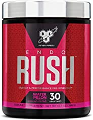 BSN Endorush Pre Workout Powder, Watermelon Flavor Energy Supplement for Men and Women, 300mg of Caffeine, wit
