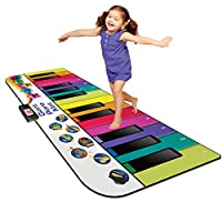 Kidzlane 地钢琴垫:特大 6 英尺音乐键盘游戏垫 适用于幼儿和儿童