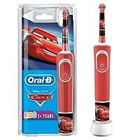 Oral-B 歐樂B 兒童電動牙刷 尼汽車總動員主題,帶迪士尼貼紙,適用于3歲以上的兒童,紅色