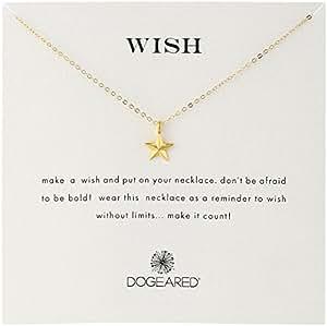 Dogeared 'Wish' 导航星 镀金纯银链项链
