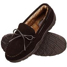 ROCKPORT *棉毛绒内衬麂皮懒人软帮鞋室内/户外男式拖鞋