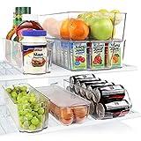 Greenco。 6 件冰箱和冷冻箱可堆叠收纳箱带手柄,透明 透明 不适用