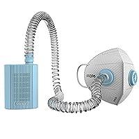 MOPS 忻风便携式空气净化器 智能防雾霾口罩PM2.5 运动口罩男女 (冰雪蓝)