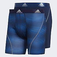 adidas 阿迪达斯 男士运动性能平角内裤,2件装