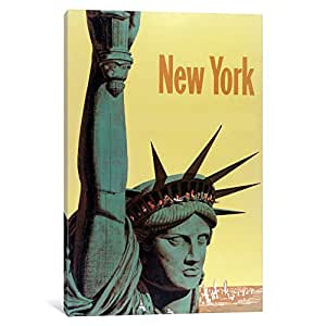iCanvasART VAC1269-1PC3-26x18 NY Liberty Canvas Print by Vintage Apple Collection, 26 by 18-Inch, 0.75-Inch Deep