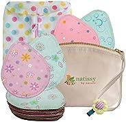 可重复使用*喂养乳垫,14 件装*棉柔软可洗哺乳垫,欧盟制造,布料乳垫;环保,适合敏感肌肤;胸罩垫是完美的婴儿派对礼物 Pastel 14-pack