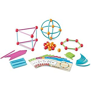 "Learning Resources 探索形状 抽插式拼接玩具,""海洋""和几何构建组合套装,129件"