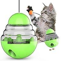 Aokely 猫咪食品分配玩具 猫咪平底杯 食品分配器 猫咪饲料 漏球 拼图玩具 互动玩具 宠物食品分配拼图 玩具 *