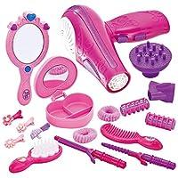 JOYIN 可爱小女孩玩偶*时尚沙龙玩具套装,配玩具吹风机、镜子和其他配件