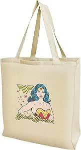 神奇女侠复古图标购物可重复使用手提袋 多种颜色 大 TOTE.LG.NAT.WBGAM093.Z005170_8