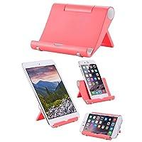 Whirldy 手机支架 桌面 懒人支架 ipad支架 手机平板通用 多功能 创意折叠 时尚 (玫红色)