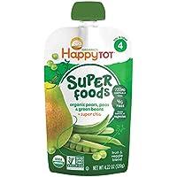 Happy Family Tot Purees - 绿豆、梨和豌豆 - 4.22 盎司 - 16 包