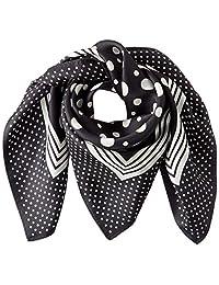 [光束 设计] 围巾 丝绸 黑色 50605505D 日本 52cm×52cm (FREE サイズ)
