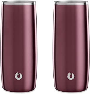 Snowfox 不锈钢保温啤*、鸡尾*会、水杯和饮具玻璃杯,让您的饮料保持在完美的温度 深玫瑰色 Highball Glass C80014-09