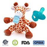 Soothie Pacifier- Newborn Pacifier Soothie- Giraffe Pacifier Holder Detachable Silicone *** BPA Free Pacifier Holder,FDA SPCIA Approve Best Gift for Boys & Girls Giraffe