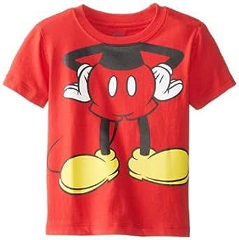 disney little boys' toddler mickey mouse headless,红色,2t