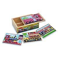 Melissa & Doug 四合一 木制拼图板 汽车图案 带收纳盒(48块)