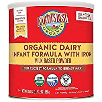 Earth's Best 世界最好 Omega-3 DHA & Omega-6 含铁婴儿奶粉 23.2盎司(658g)4罐装(包装随机发货)