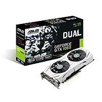 AASUS 华硕 DUAL-GTX1060-3G NVIDIA GeForce 显卡 3GB GDDR5 192位内存 PCI Express 3.0- 黑色