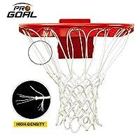 PROGOAL 专业篮球网替换件,重型加厚网适合标准室内外 12 环圈轮辋(红色和白色,标准尺寸)