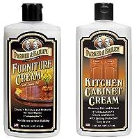 Parker & Bailey 家具霜,随附厨房橱柜霜 – 家具抛光奶油和木质清洁剂