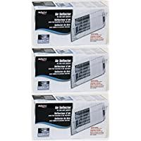 Deflecto 可调节壁风导流板,25.4 厘米 x 40.64 厘米(51 厘米) 白色 Adjustable (3-Pack) DEF51x3