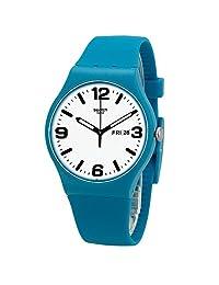 Swatch 斯沃琪 瑞士品牌 原创炫彩系列 石英男女适用手表 蔚蓝海岸 SUOS704