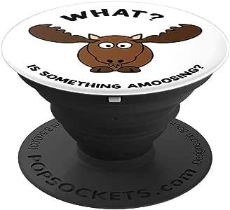 趣味动物朋克 – PopSockets 手机和平板电脑抓握支架260027  黑色