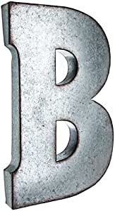 大型 50.8 cm 金属字母墙饰字母粗纹边缘镀锌金属 B 43237-2