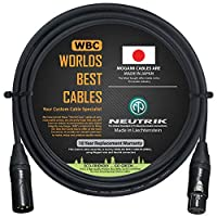 4英尺(约1.8米)– 四重平衡麦克风电缆定制由WORLDS BEST CABLES 制造 – 采用 Mogami 2534 电线和 Neutrik NC3MXX-B 公头和 NC3FXX-B 母头 XLR 插头。