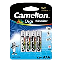 Camelion 飞狮 LR03-BP4DG 数码碱性7号电池 4粒卡装