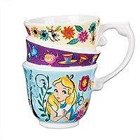 Alice in Wonderland Mug Molded design of three stacked tea cups