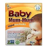 Hot-Kid Baby Mum-Mum婴儿米饼,原味, 每件24片 (6件装) ,不含麸质、不含致敏物、为正在出牙的宝宝设计的磨牙饼干