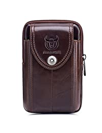 公牛 CAPTAIN iphone 7Plus 手机袋真皮男式皮带环皮套腰包钱包 with A 夹男式钱包 yb-7
