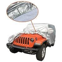 Exerock 全天候无纺布牛津布全车罩适合 2004-2019 Jeep Wrangler Unlimited JK JL 4 门 SUV Exerock-jkjl0419