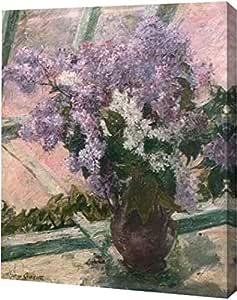 "PrintArt GW-POD-64-372663-24x30 ""Lilacs In A Window 1880"" Mary Cassatt 画廊装裱艺术微喷油画艺术印刷品 10"" x 12"" GW-POD-64-372663-10x12"