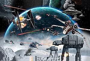 星球大战帝国攻击后背帆布印刷画 76.20 cm x 50.80 cm 附带配套鼠标垫