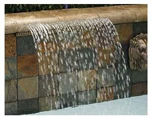 Pentair 581403ARWBF Magicfalls 水效特超 13 英寸唇系列圆弧雨,白色,3 英尺