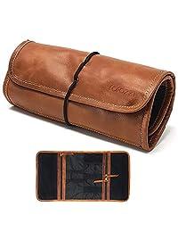 PURPLE RELIC 皮革旅行收纳包适用于电缆,小号电子产品,护照夹
