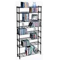 Atlantic Maxsteel 3020 432 CD/228 DVD/114 VHS/ 8-Tier Media Rack Black