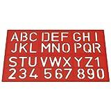Westcott E-10600 00 字体模板,字母和数字,40 毫米 3 种颜色分类