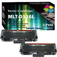 (2 件装)兼容 MLT-D116L 116L 墨粉盒 D116L 适用于 Samsung Xpress SL-M2625D M2675F M2825DW M2835DW M2875FD M2875FW M2885FW M2875DW 打印机,GTS 出品